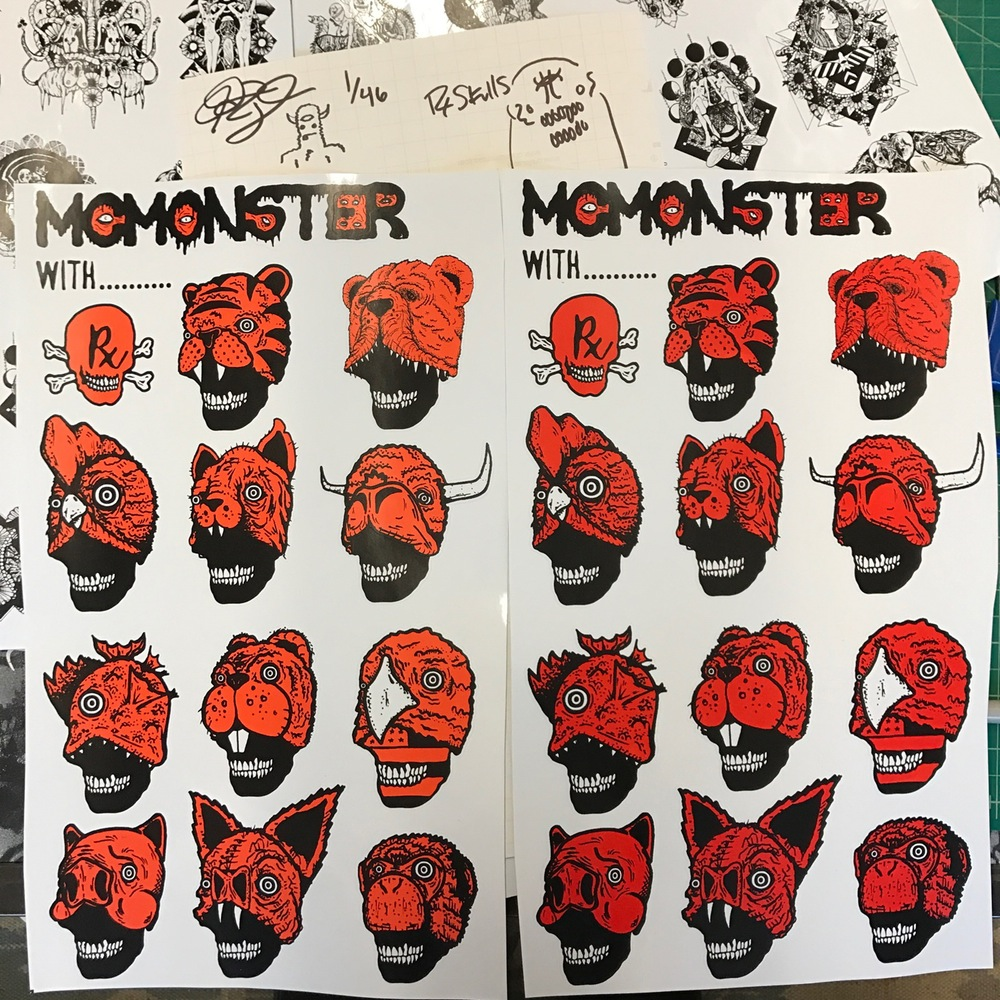 McMonster & Rx Skulls Collab Sheets