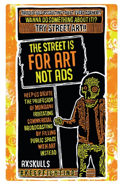 AD Art Not Ads Poster