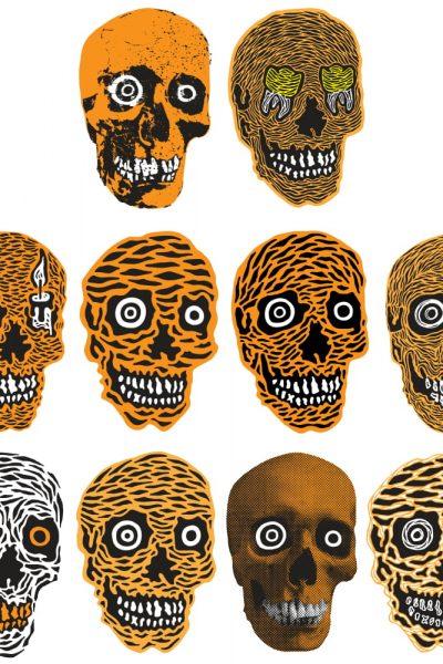 Skull Apothecary Bottles